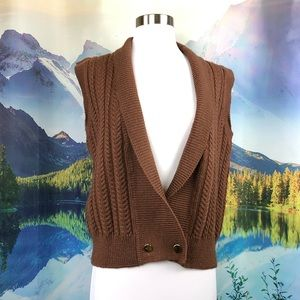 VTG Jos. A. Bank 100% wool cable knit sweater vest
